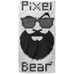 Serviette de plage King Size - Black Pixel Bear