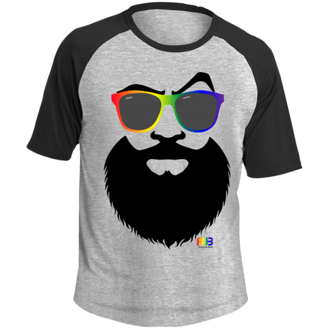T-shirt Raglan Homme - Rainbow Beach Beard