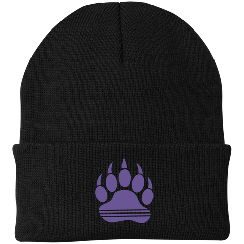 Bonnet Brodé - Purple Bear Paw