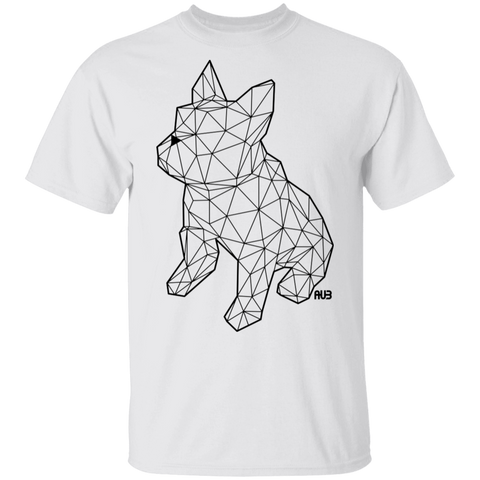 T-Shirt Classique Homme - Black Origami French Bulldog I