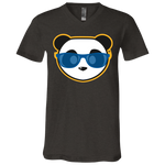 T-Shirt col V Unisexe - Stuffed Royal Blue Beach Panda