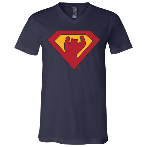T-Shirt col V Unisexe - Original Super Bear