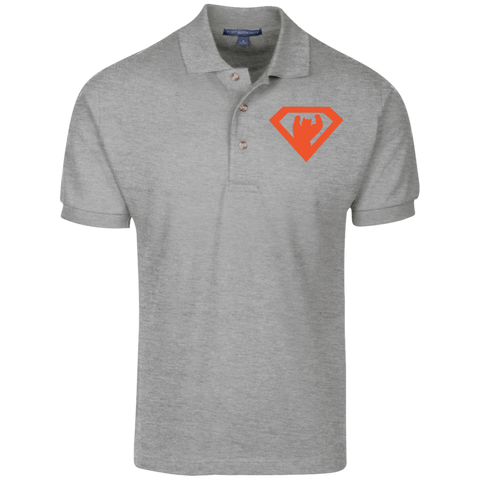 Polo Homme Brodé - Orange Super Bear