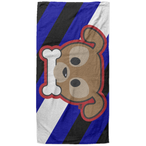 Serviette de plage King Size - Stuffed Puppy With Bone