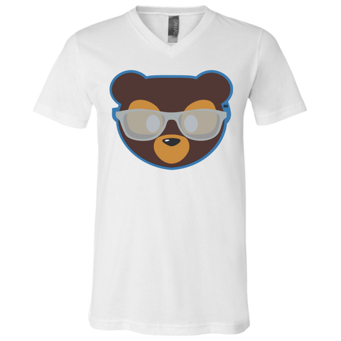 T-Shirt col V Unisexe - Silver Beach Teddy Bear
