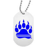 Collier Dog Tag - Blue Bear Paw