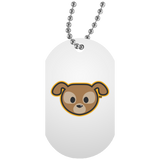 Collier Dog Tag - Stuffed Puppy