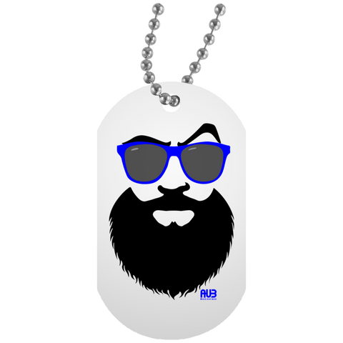 Collier Dog Tag - Blue Beach Beard