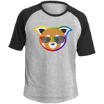 T-shirt Raglan Homme - Rainbow Beach Red Panda