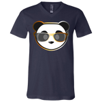 T-Shirt col V Unisexe - Bear Rainbow Beach Panda