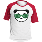 T-shirt Raglan Homme - Stuffed Kelly Green Beach Panda
