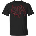 T-Shirt Classique Homme - Red Origami French Bulldog II