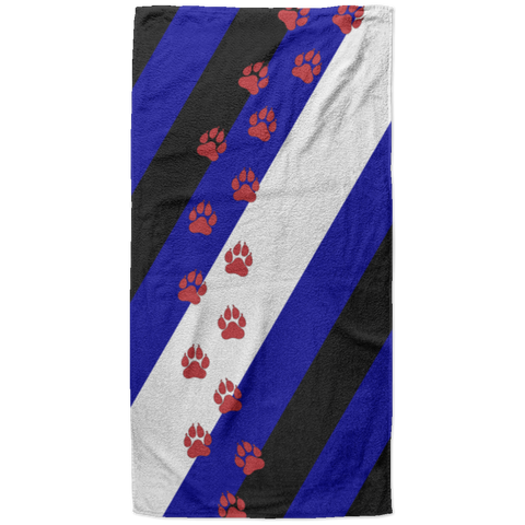 Serviette de plage King Size - Puppy Flag Dog Paws