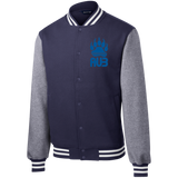 Veste Teddy Homme Brodée - Royal Blue Bear Paw