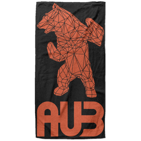 Serviette de plage King Size - Black Orange Origami Bear II