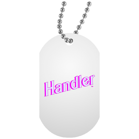Collier Dog Tag - Handler BB Font II