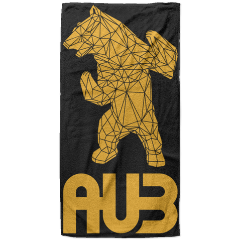 Serviette de plage King Size - Black Athletic Gold Origami Bear II