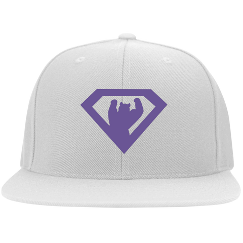Casquette Snapback Brodée - Purple Super Bear
