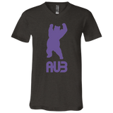 T-Shirt col V Unisexe - Purple Dancing Bear