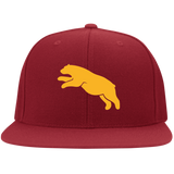 Casquette Snapback Brodée - Athletic Gold Jumping Bear