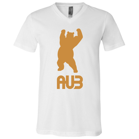 T-Shirt col V Unisexe - Antic Gold Dancing Bear