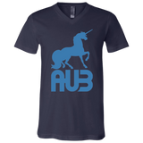 T-Shirt col V Unisexe - California Blue Unicorn