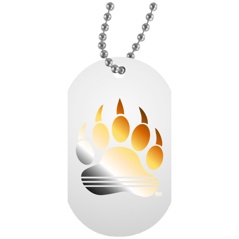 Collier Dog Tag - Bear Rainbow Print