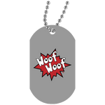 Collier Dog Tag - Woof Woof