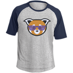 T-shirt Raglan Homme - Purple Beach Red Panda