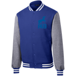 Veste Teddy Homme Brodée - Royal Blue Unicorn