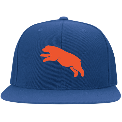 Casquette Snapback Brodée - Orange Jumping Bear