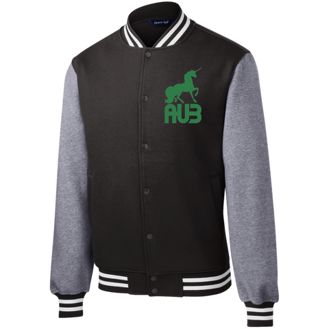 Veste Teddy Homme Brodée - Kelly Green Unicorn