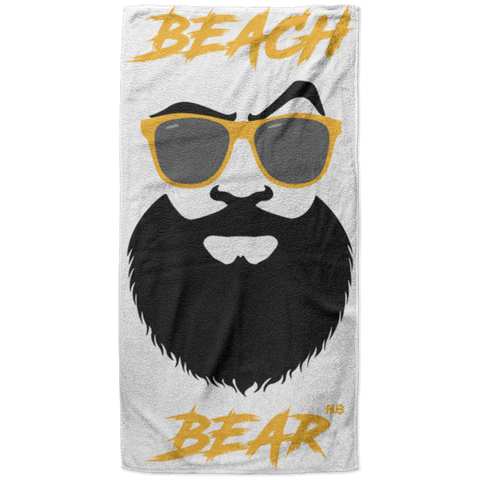 Serviette de plage King Size - Gold Beach Bear