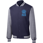Veste Teddy Homme Brodée - California Blue Bear Paw