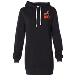 Robe Sweatshirt Brodée - Orange Unicorn
