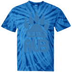 T-shirt Tie & Dye Homme - California Blue Bear Paw
