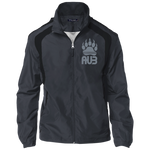 Veste Colorblock Homme Brodée - Grey Bear Paw