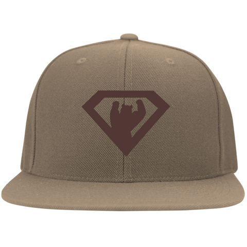Casquette Snapback Brodée - Brown Super Bear