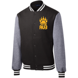 Veste Teddy Homme Brodée - Athletic Gold Bear Paw
