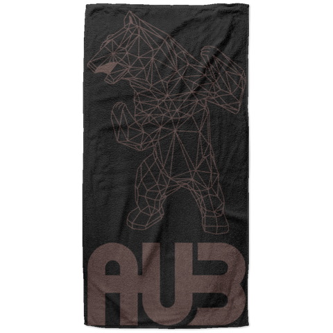 Serviette de plage King Size - Black Brown Origami Bear