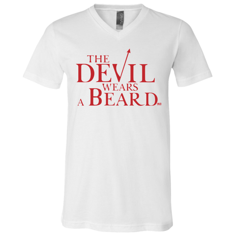 T-Shirt col V Unisexe - The Devil Wears a Beard