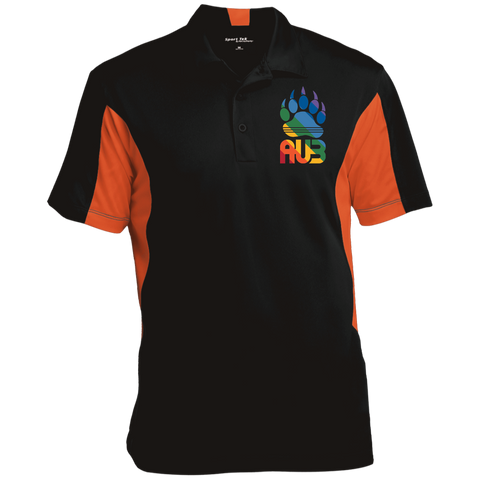 Polo Colorblock Homme Brodé - Vintage Rainbow Paw