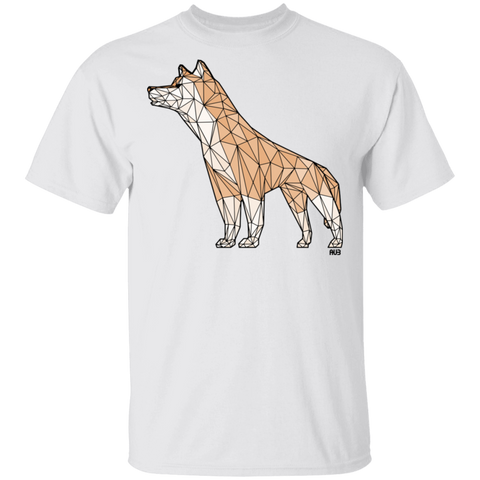 T-Shirt Classique Homme - Brown Origami Husky