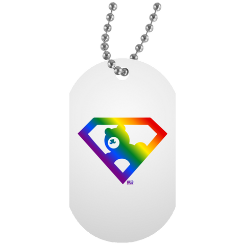 Collier Dog Tag - Rainbow Super AUb