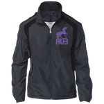 Veste Colorblock Homme Brodée - Purple Unicorn