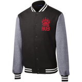 Veste Teddy Homme Brodée - Red Bear Paw
