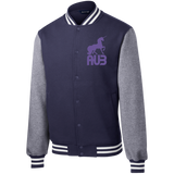 Veste Teddy Homme Brodée - Purple Unicorn