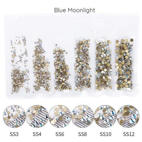 Mega Pack Rhinestones, Blue Moonlight