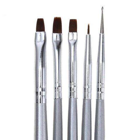 Assorted Brushes, Wood Handle, 5 Piece Set