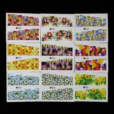 Full Cover Floral, Water Transfer Decals, 50 Sheets